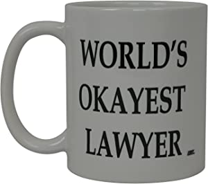 World's Okayest Lawyer Funny Coffee Mug Gift For Attorney Novelty Cup Law Office