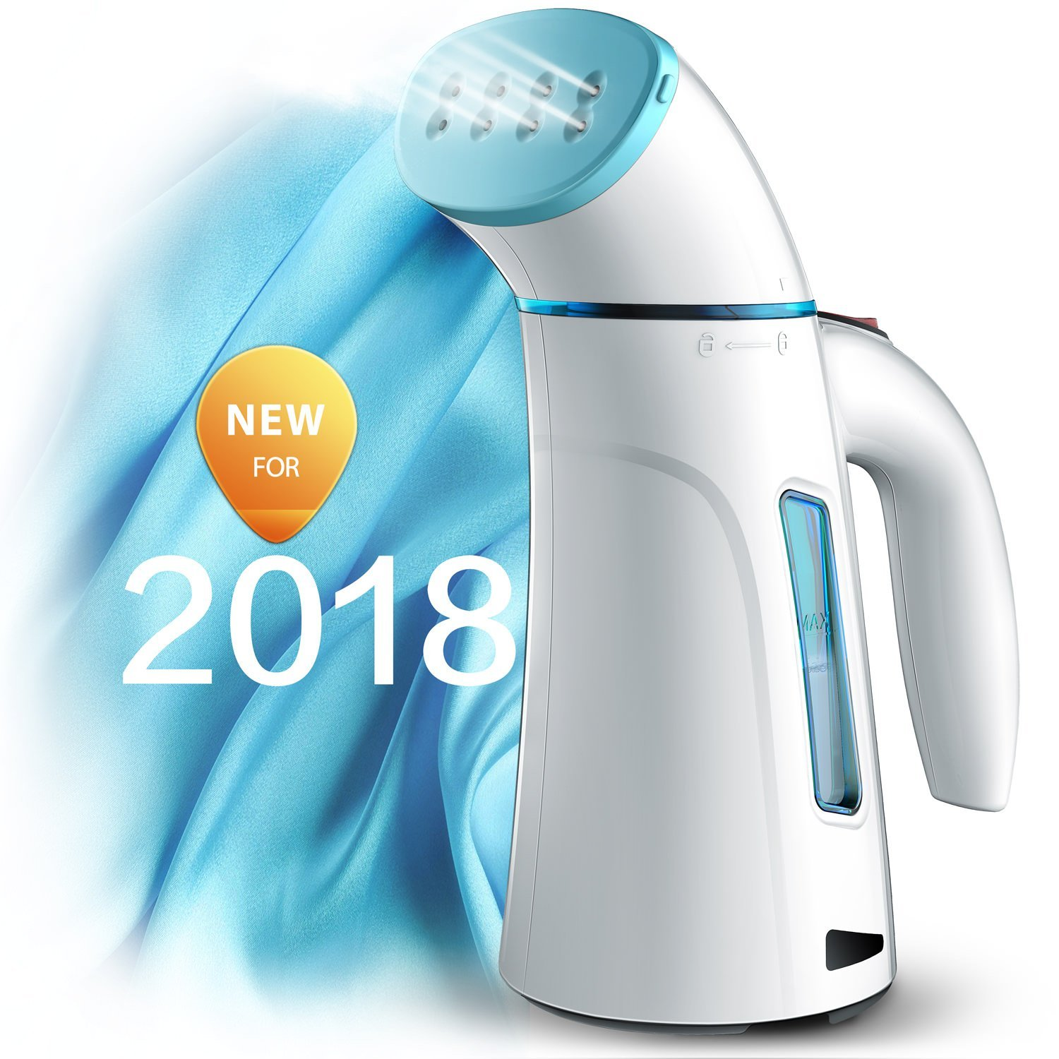 Steamer for Clothes Steamer, Handheld Garment Steamer for Clothing Steamer. Mini Travel Steamer for Portable Steam Iron Hand Held … (Blue) by Hilife