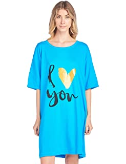 d2b029f1ae Casual Nights Women s Short Sleeve Printed Scoop Neck Sleep Tee One Size