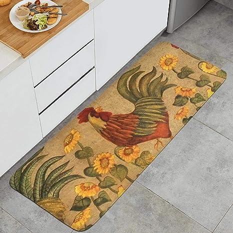Amazon.com: Kitchen Mat Waterproof Kitchen Rugs Cushioned ...