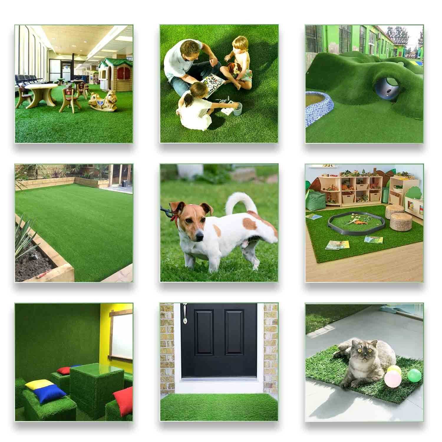 LITA Premium Artificial Grass 40 in x 80 in (22.2 Square FT) Realistic Fake Grass Deluxe Turf Synthetic Turf Thick Lawn Pet Turf -Perfect for indoor/outdoor Landscape - Customized