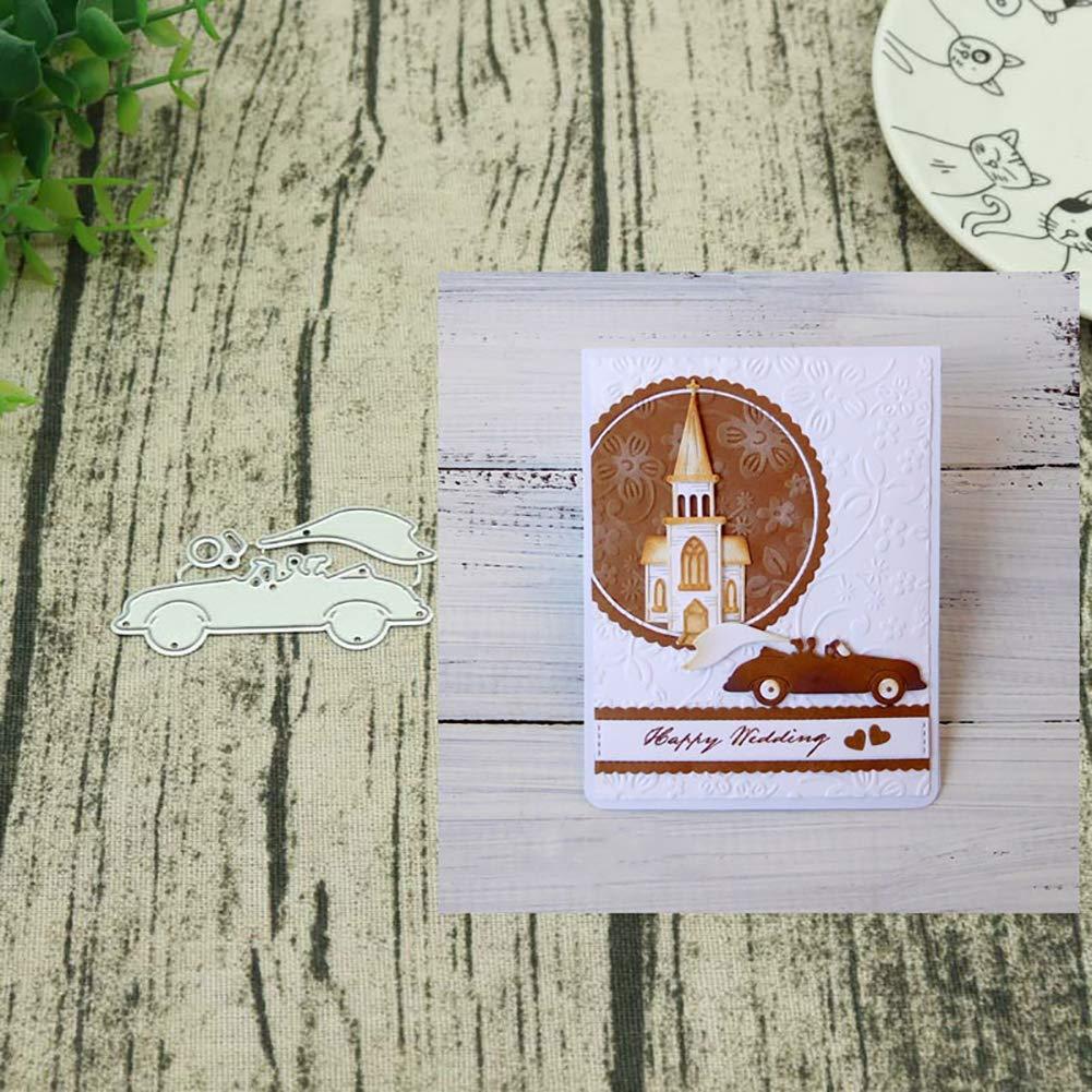 pushfocourag/® 9 St/ück Spray-Serie und Wellen Stanzschablone Handbuch DIY Schablone Pr/ägung Karte Scrapbooking