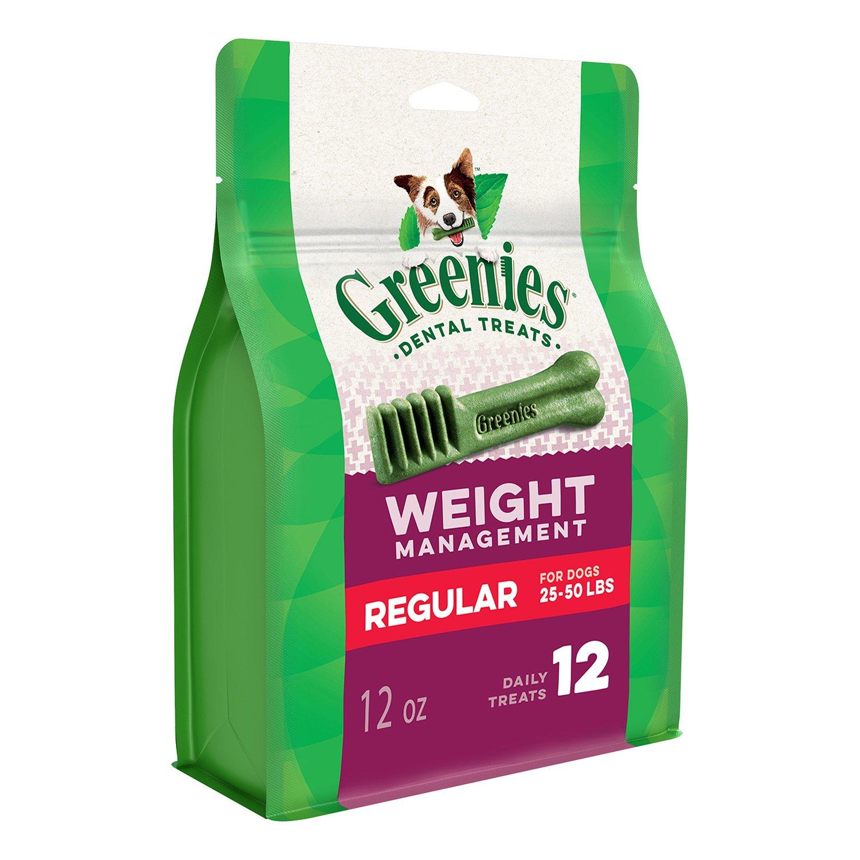 Greenies Weight Management Regular Size Dental Dog Chews - 12 Ounces 12 Treats by Greenies (Image #1)
