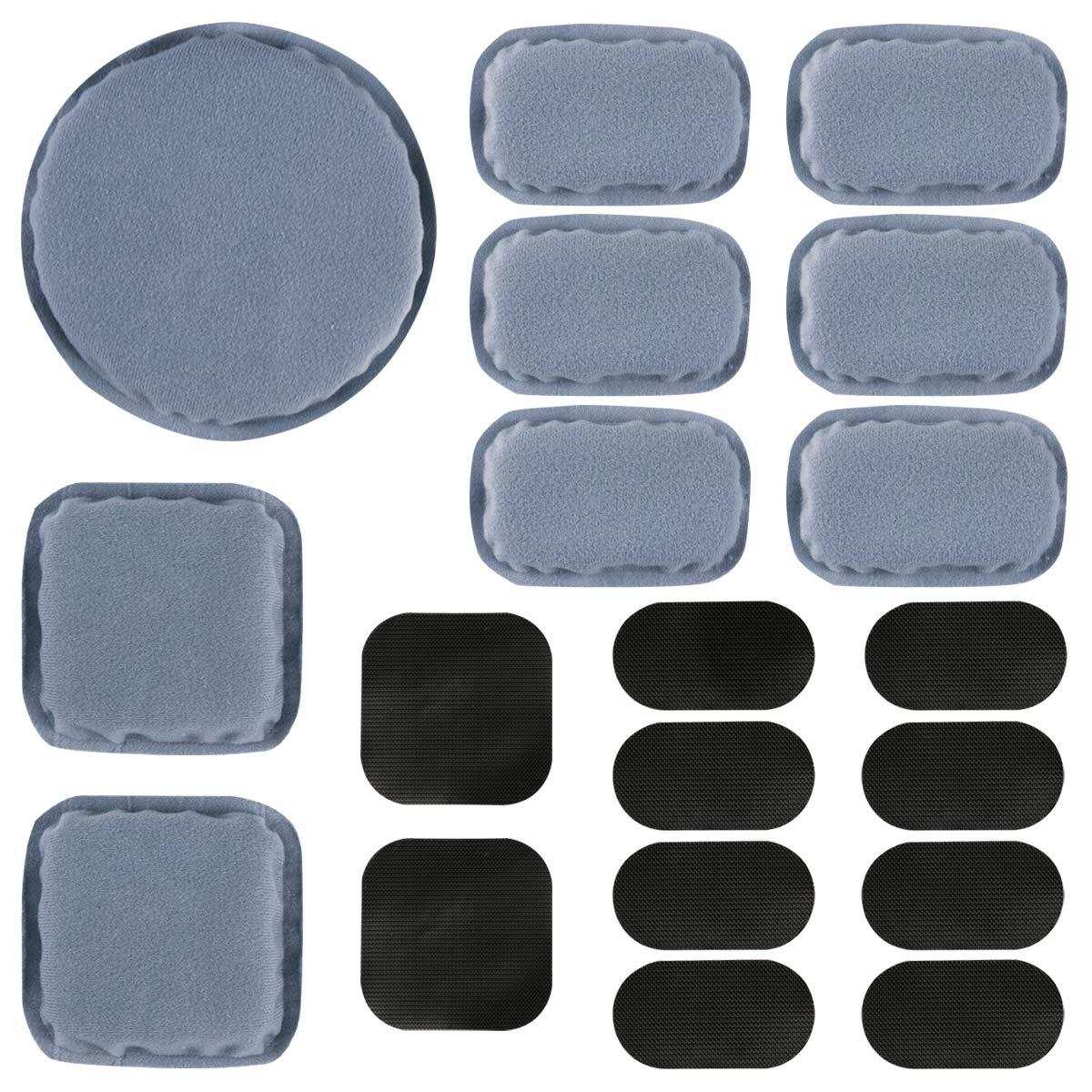 Set Casco Kits de Relleno de Espuma de Repuesto Set Accesorios Alfombrillas para Casco Fast//Mich//ACH//USMC//PASGT 19pcs Aoutacc Universal Airsoft Casco Pads