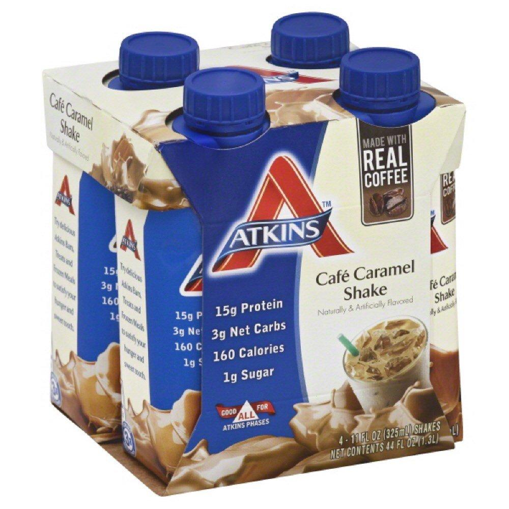 Atk Rtd Shake Cafe Crmal Size 44z Atkins Ready To Drink Shake Cafe' Carmel 4pk