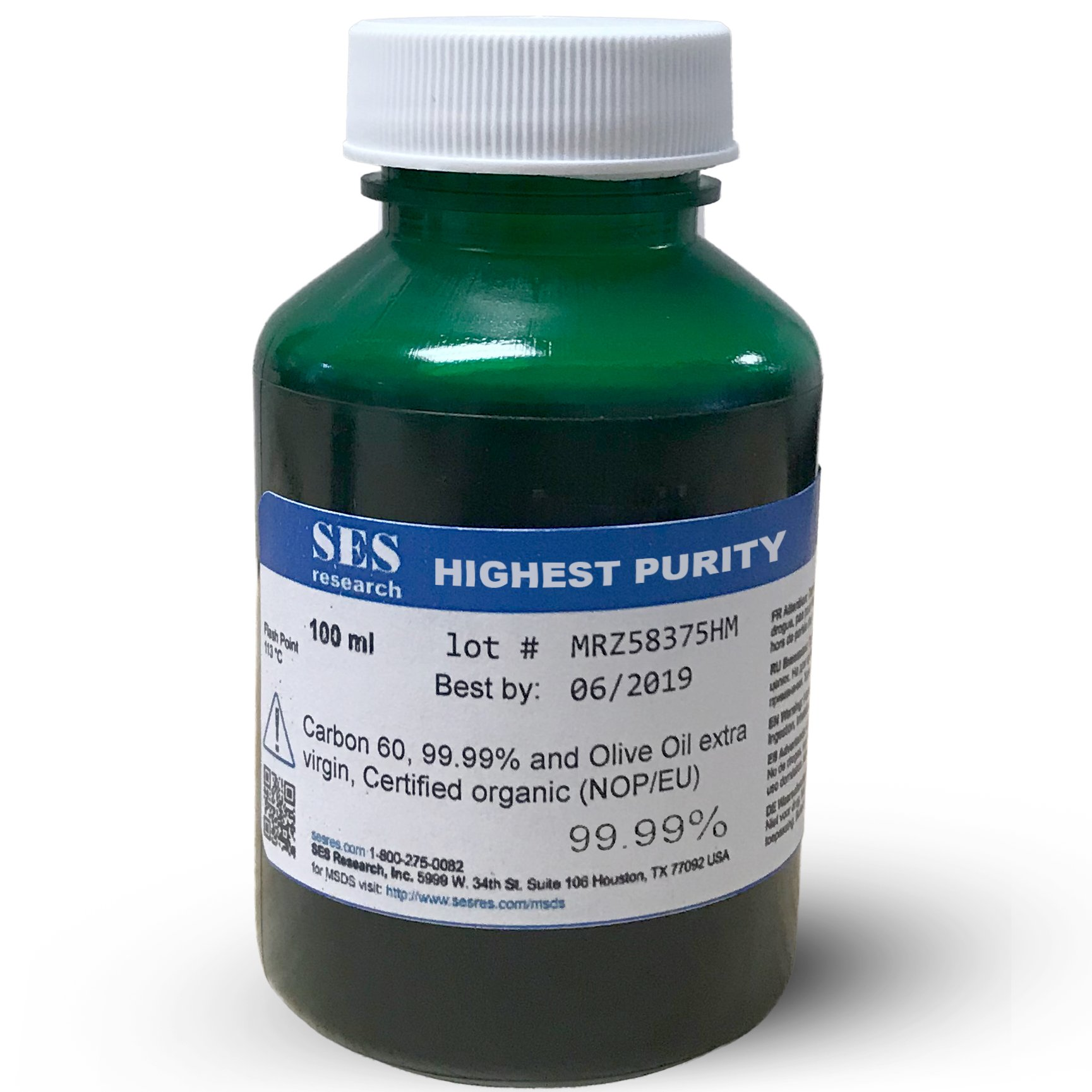 C60 Olive Oil - Organic - Highest Purity 99.99% - 100 ml