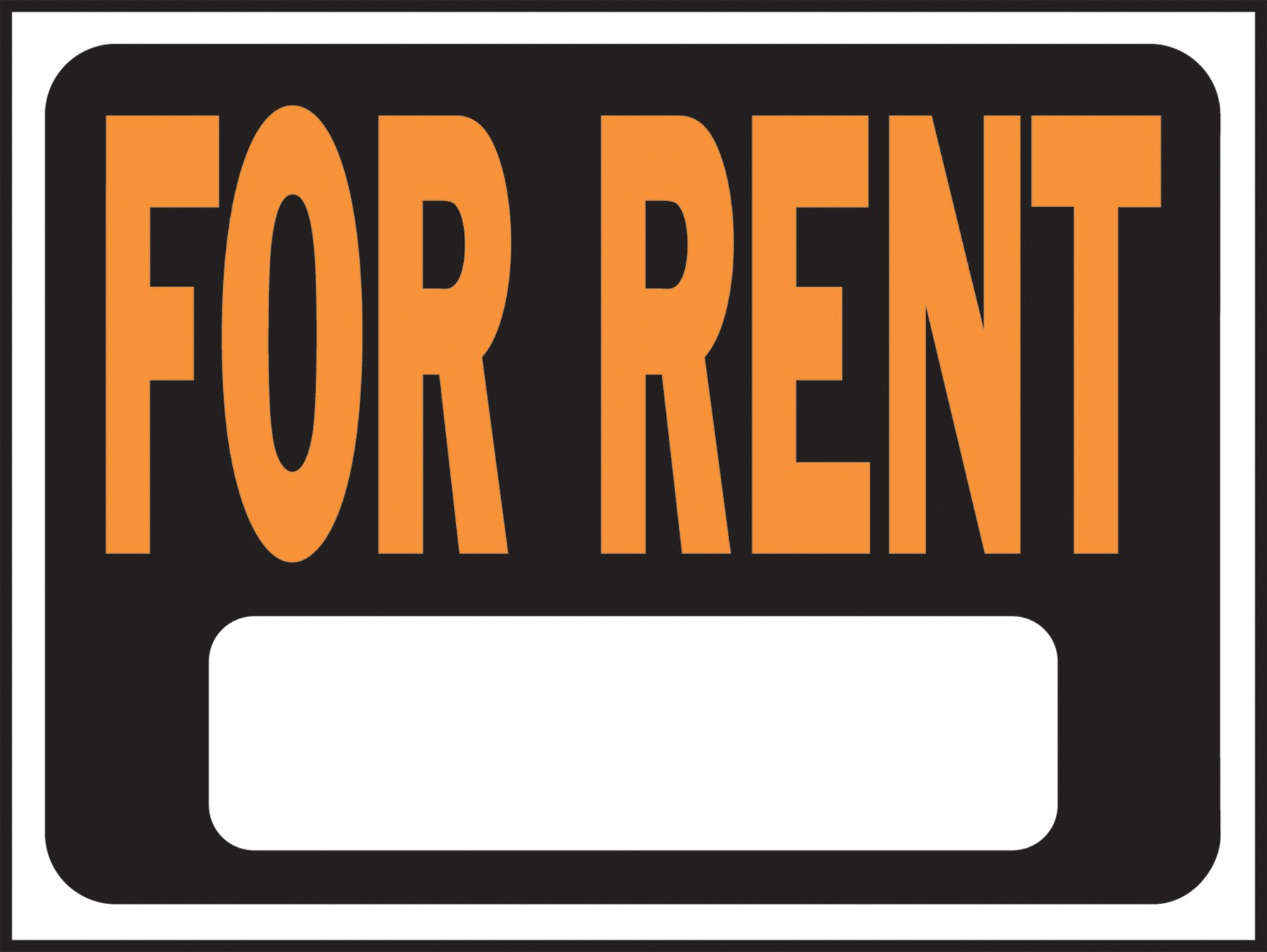 HY-KO PRODUCTS GIDDS-2488003 FOR RENT Plastic Sign 9'' x 12''