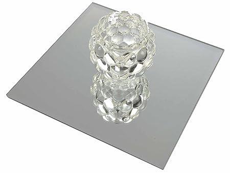 SQUARE GLASS MIRRORS WEDDING TABLE DECORATION CENTRE PIECE BEVELED (1, 25cm)