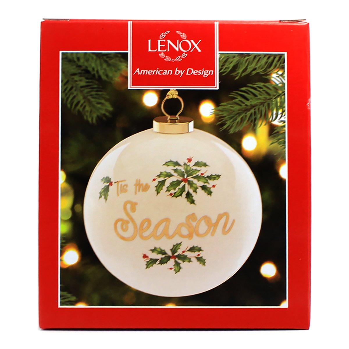 Ivory Lenox Tis The Season 4-in Ball Ornament