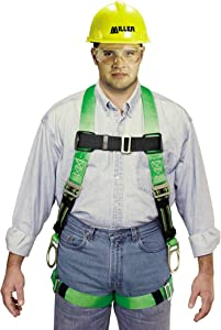 Miller by Honeywell P950-7/XXLGN Duraflex Python Full-Body Ultra Harness with Mating Buckle Leg Straps, XX-Large, Green