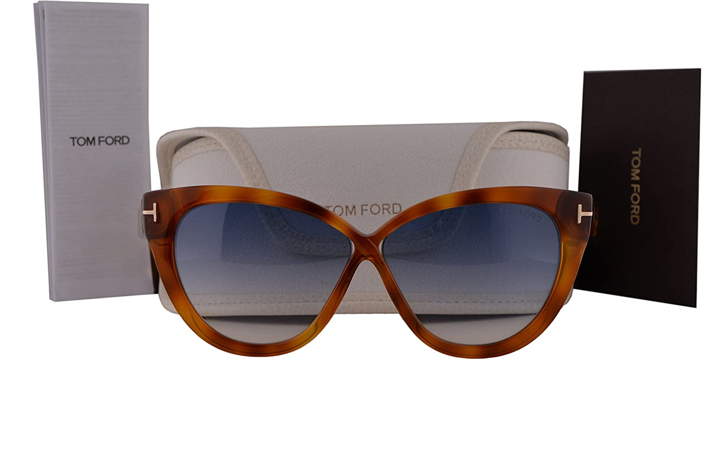 4a9b6e012a Amazon.com  Tom Ford FT0511 Arabella Sunglasses Light Havana w Blue  Gradient Lens 53W TF511  Home   Kitchen