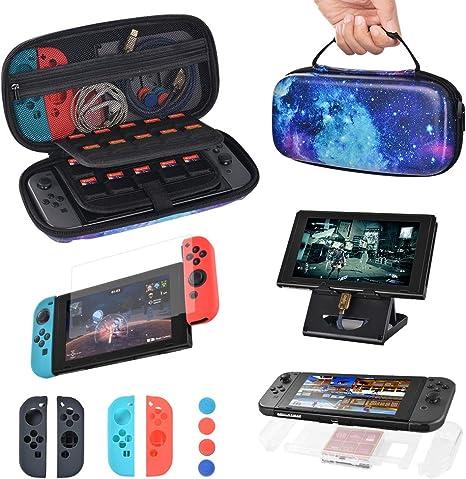 Sunix 10-en-1 Funda Transportar la Nintendo Switch, con 20 ...