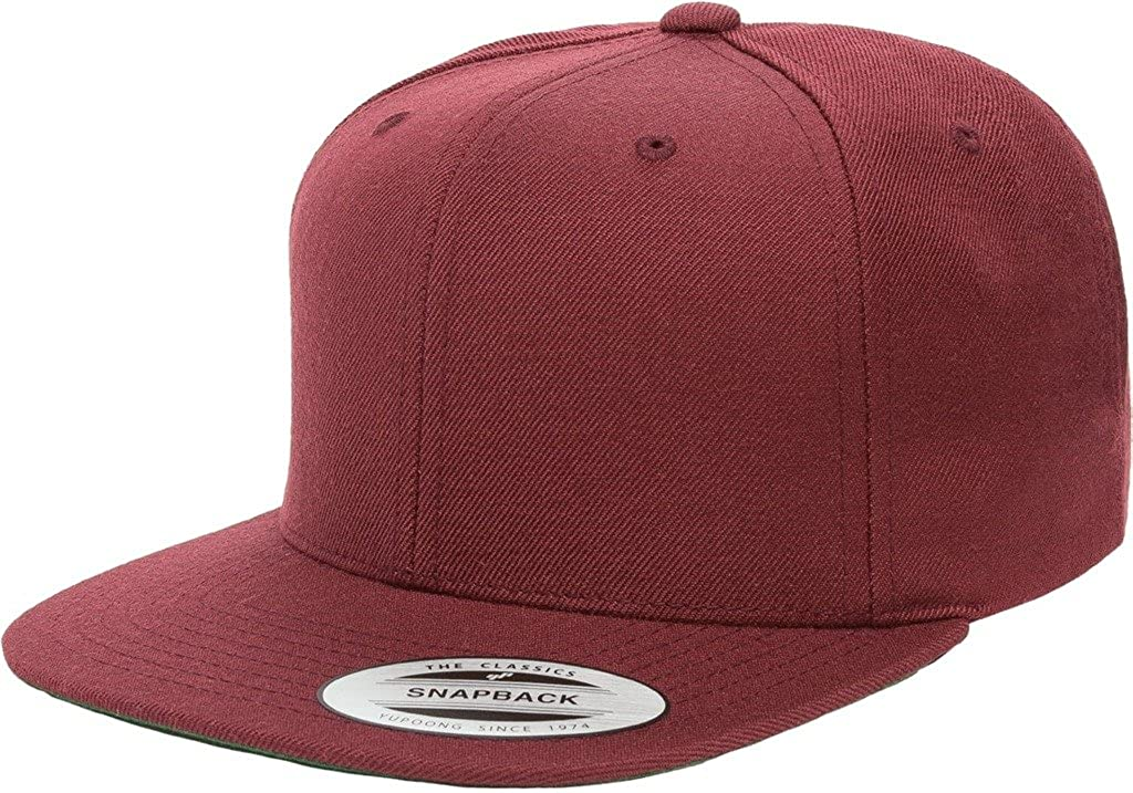 b83a8848 Classic Flexfit Wool Snapback with Green Undervisor Yupoong 6089M (Black):  Amazon.ca: Clothing & Accessories