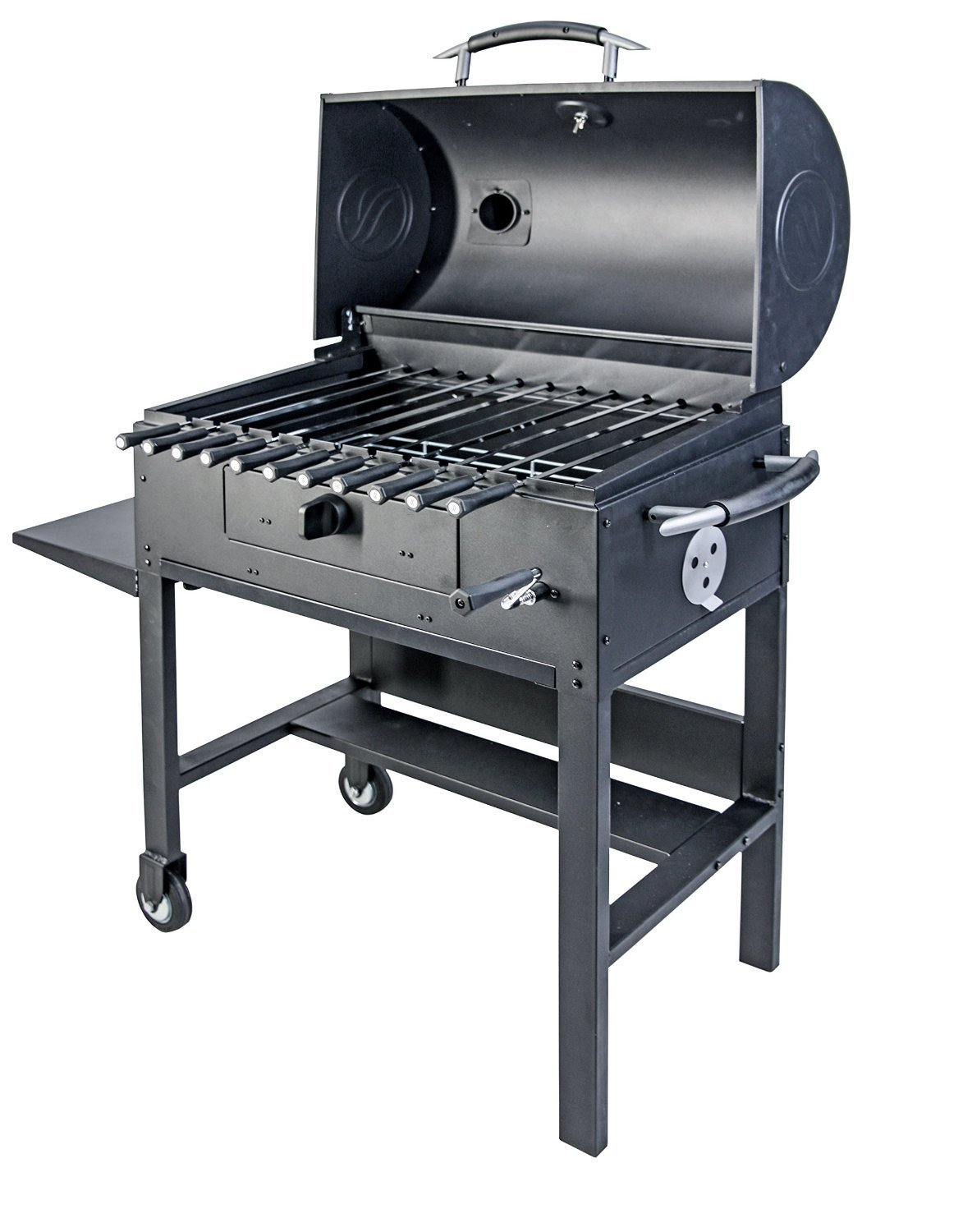 Amazon.com : Blackstone 3 In 1 Kabob Charcoal Grill   Barbecue   Smoker    With Automatic Rotisserie   11 Custom Heavy Duty Skewers Included : Garden  U0026 ...