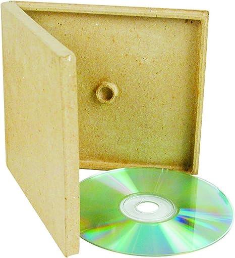 CD apto para cartón - Digi Pack - CD caja cartón color en blanco para personalizar 13 x 14,5 x 1,2 cm: Amazon.es: Hogar