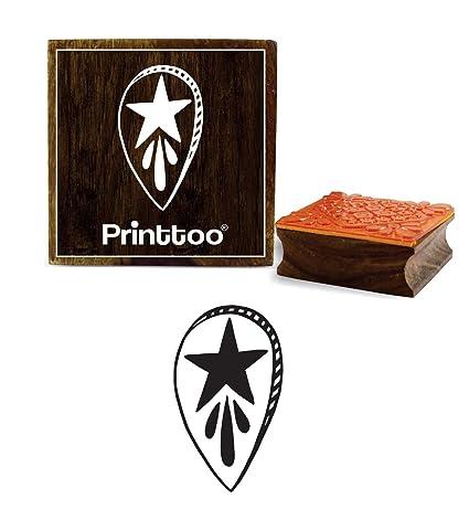 Printtoo Star Design Craft - Agenda cuadrada de madera con ...