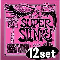 ERNIEBALL Ernie Ball electric guitar strings # 2223 Super Slinky x 12 set