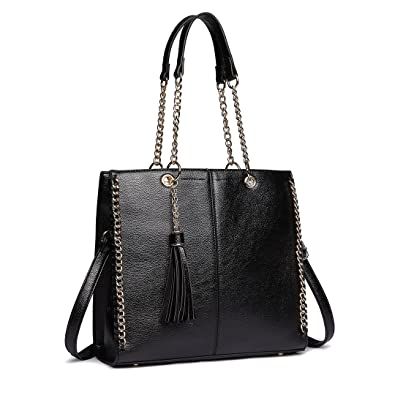 Miss Lulu Women s Handbag PU Leather Shoulder Bags Top-Handle Handbag  Shopper Office (1821 3c73befb1af5e