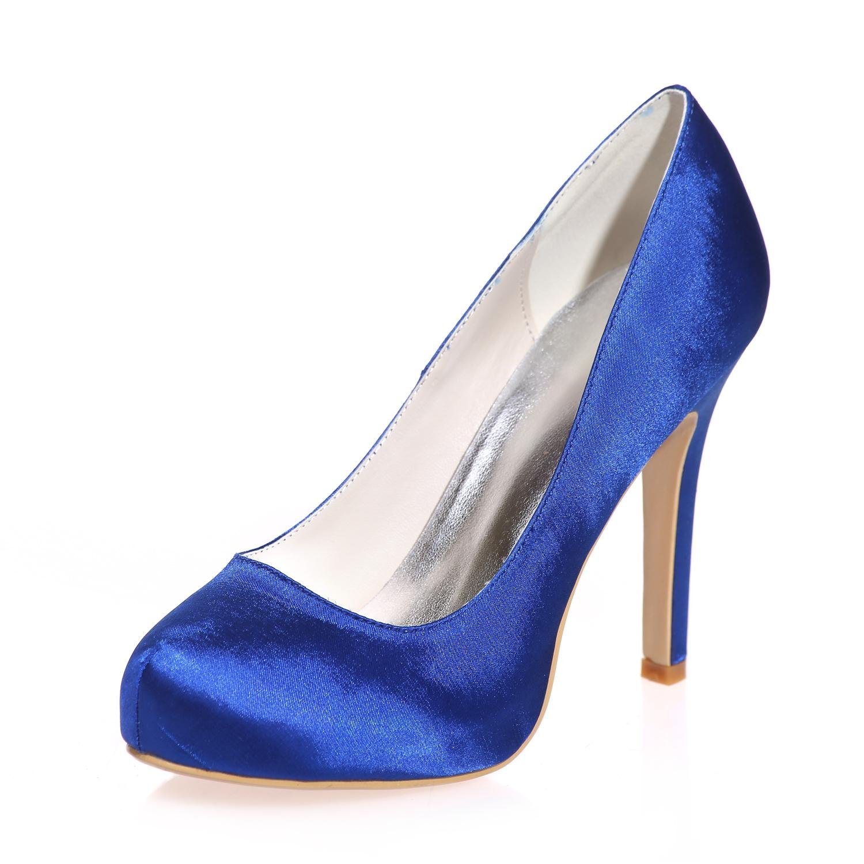L@YC Damen High Heels Closure/Party Seiden Closure/Party Heels / Party Nacht & mehr Farben 6915-03a Blau be1395