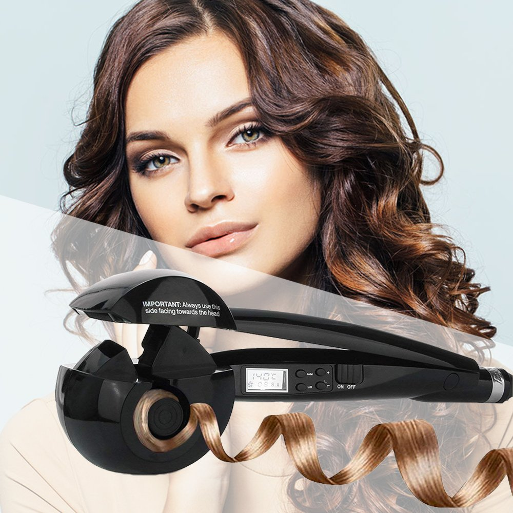 Amazon.com: Hair Curler,Upgraded Professional curling wands,Curl Secret Hair Styler |Curling Iron Wand Best Steam Curling Iron|Auto Rotating Electric Hair ...