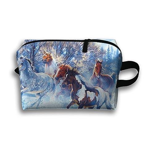 Louis Woodrow Horses en la bolsa de almacenamiento de nieve ...
