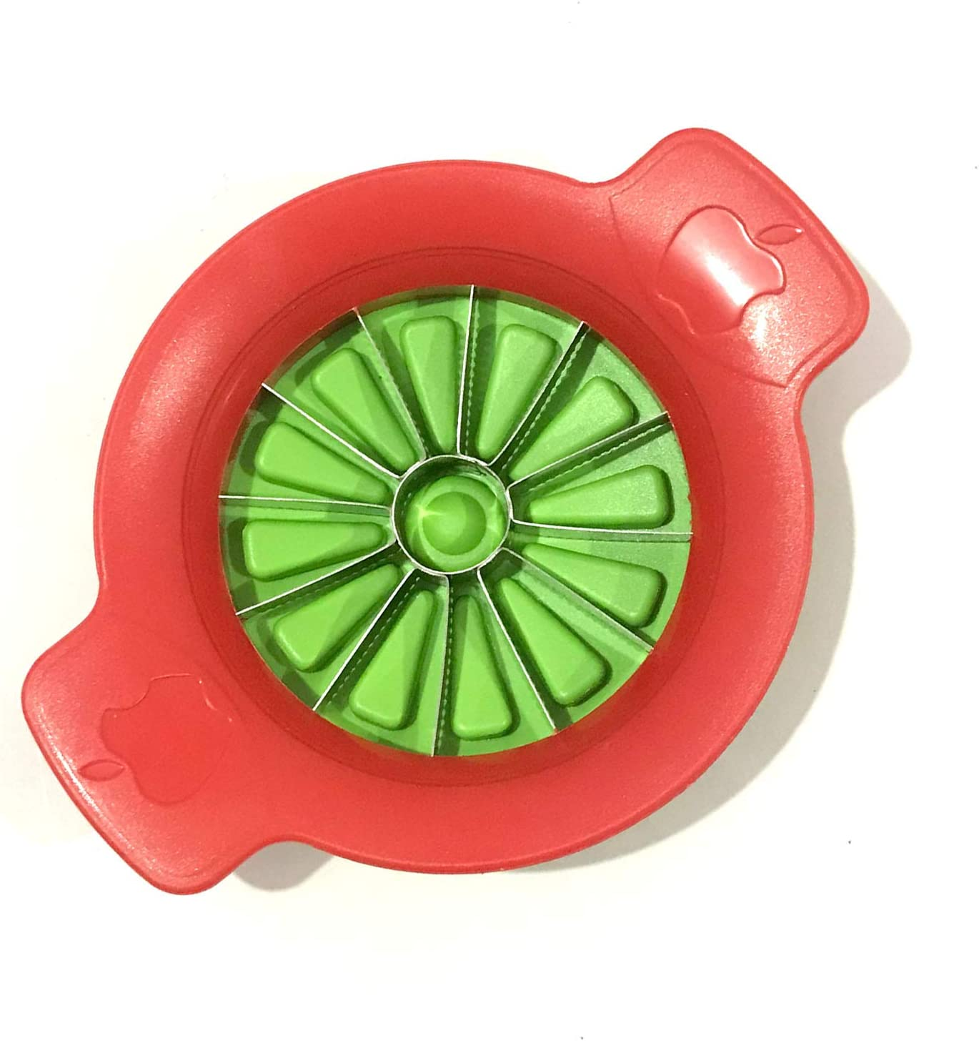 12-Slice Thin Apple Slicer and Corer Apple Slicer Corer Cutter Divider Wedger Stainless Steel Apple Slicer with 12 Sharp Serrated Blade Ergonomic Grip Handle and Plastic Base