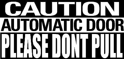 2 x Caution Automatic Door Business Window Safety Bumper Sticker Vinyl Decal