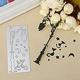Juego de Troqueles, K-youth® DIY Troqueles Scrapbooking Navidad en relieve troqueles de corte plantillas molde para bricolaje álbum de Scrapbooking tarjeta de papel (D)