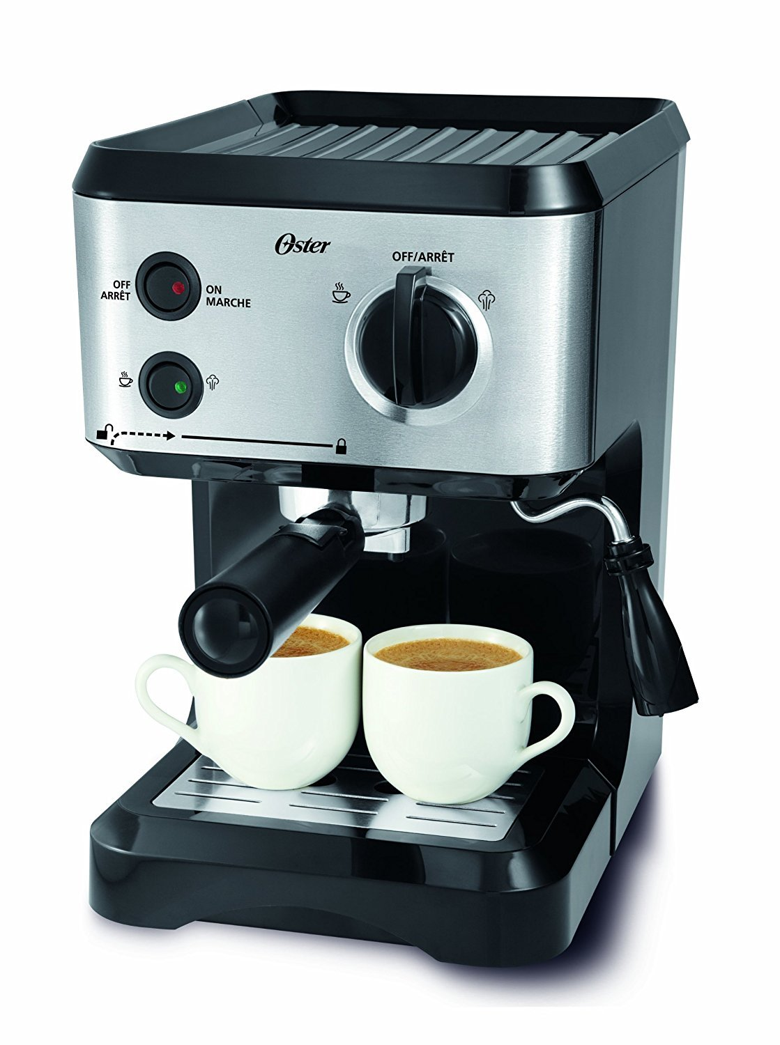 Oster BVSTECMP55 Cappuccino Maker, Medium, Black by Oster