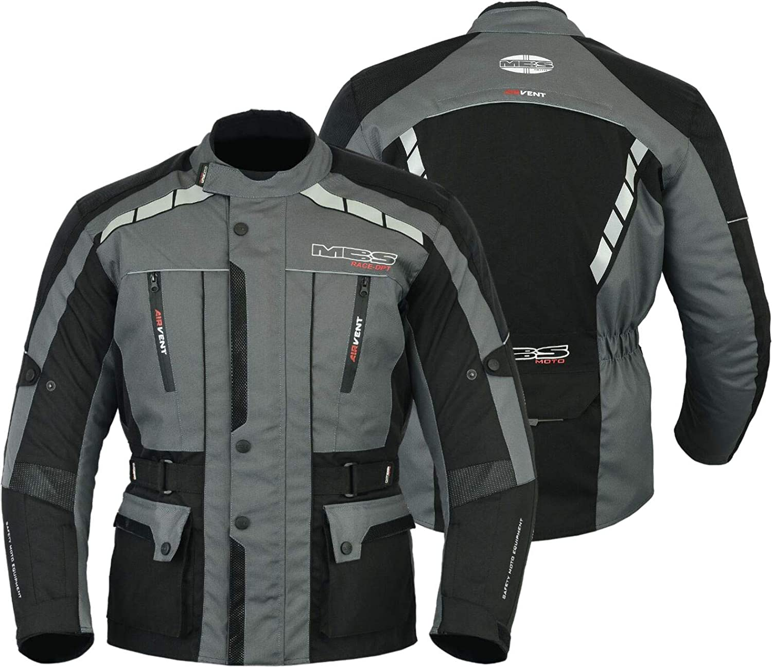 Antracita, S MBSmoto MJ-21 James Motorcycle Bike Textile Touring Racing Chaqueta larga impermeable para hombre de Cordura
