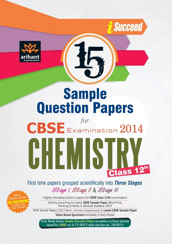 Cbse 15 sample question paper chemistry for class 12th amazon cbse 15 sample question paper chemistry for class 12th amazon geeta rastogi books malvernweather Gallery