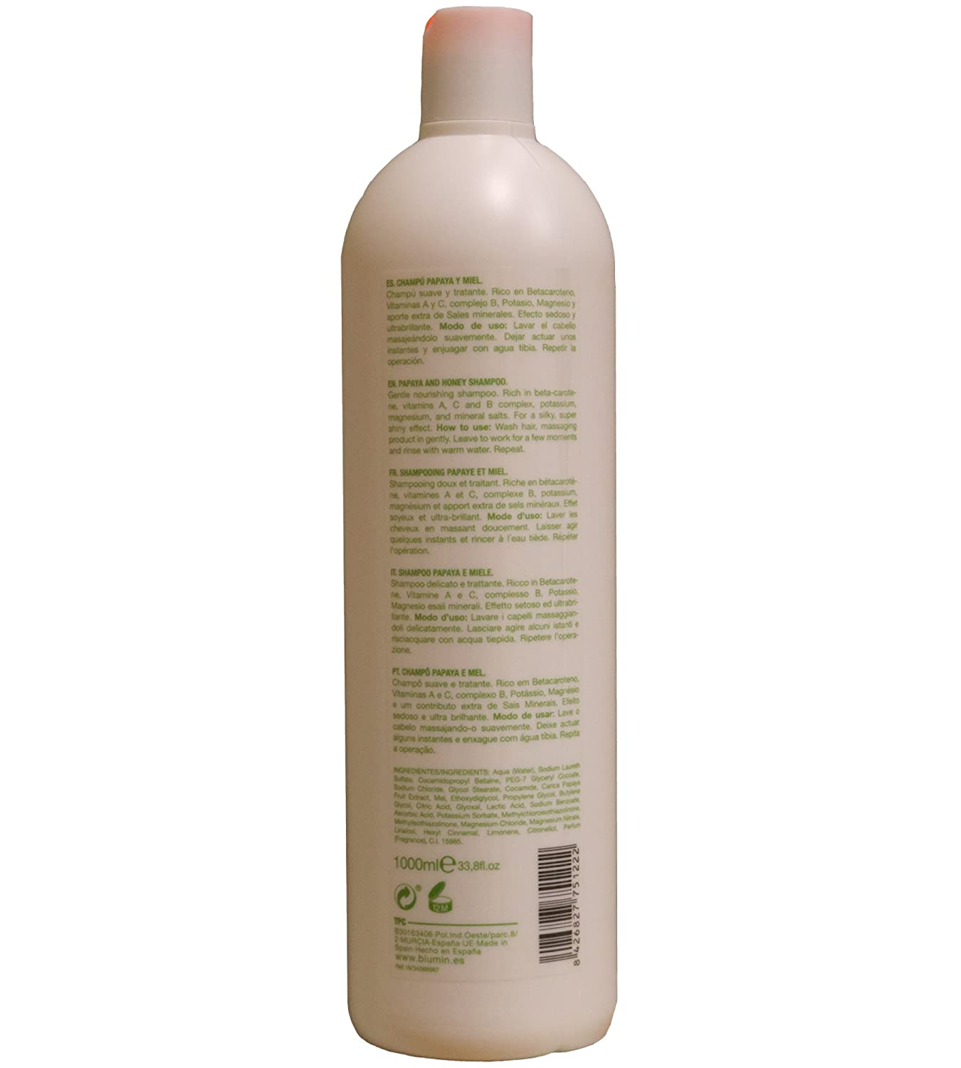 Amazon.com: Blumin Papaya and Honey Shampoo 1000ml: Health & Personal Care