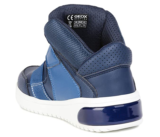 GEOX, Sneakers Low Blinkies XLED BOY für Jungen, mit LED Sohle, blau