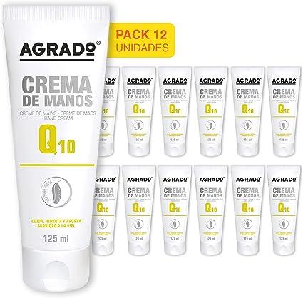 Agrado Q-10 Crema para manos y uñas - 125 ml. Pack de 12 unidades.: Amazon.es: Belleza