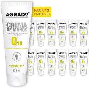 Agrado Q-10 Crema para manos y uñas - 125 ml. Pack de 12 unidades ...
