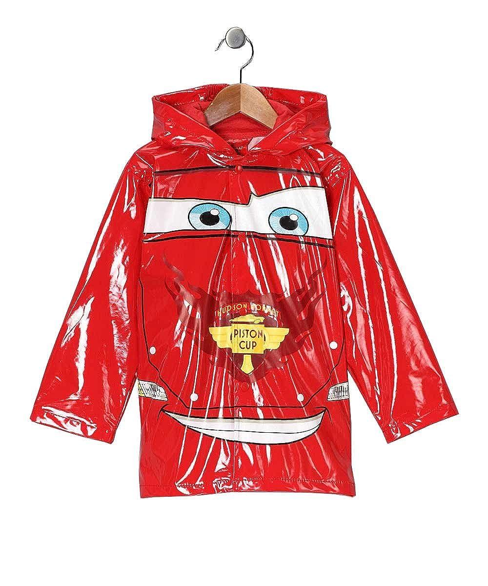 Disney Cars Little Boys' Lightning McQueen Waterproof Outwear Hooded Rain Coat - Toddler