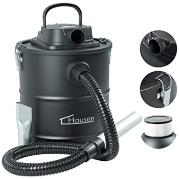 Hausen 1200W Cylinder 20L Fireplace Fire Ash Vacuum Cleaner Hoover Coal Chimney