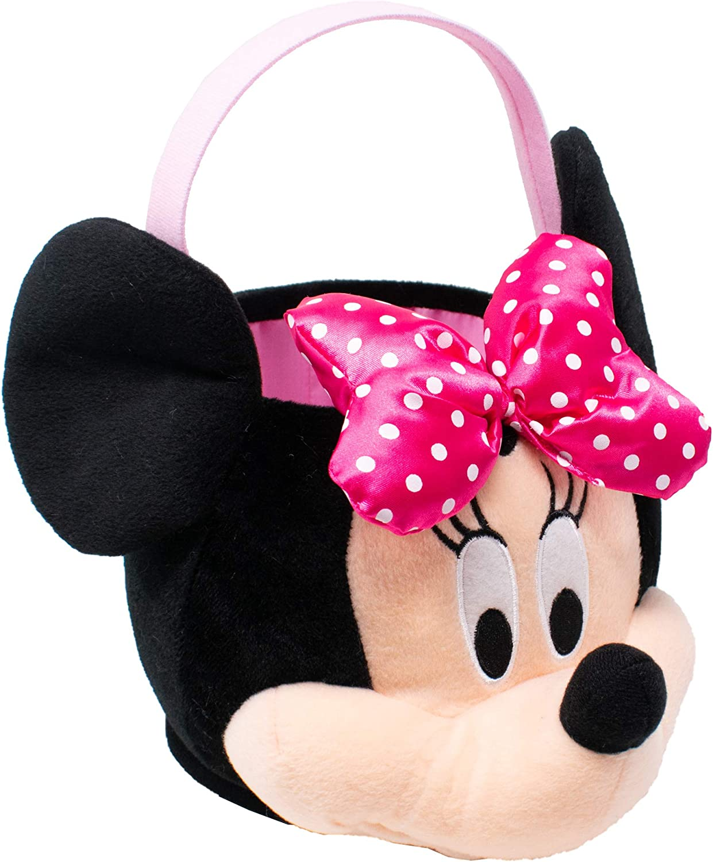 Multicolor Disney Minnie Mouse Medium Plush Basket