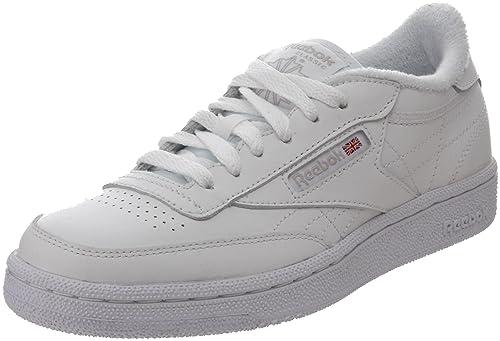 f6cf4e91524 Reebok Club C White White Youths Trainers Size 3.5 UK  Amazon.co.uk  Shoes    Bags