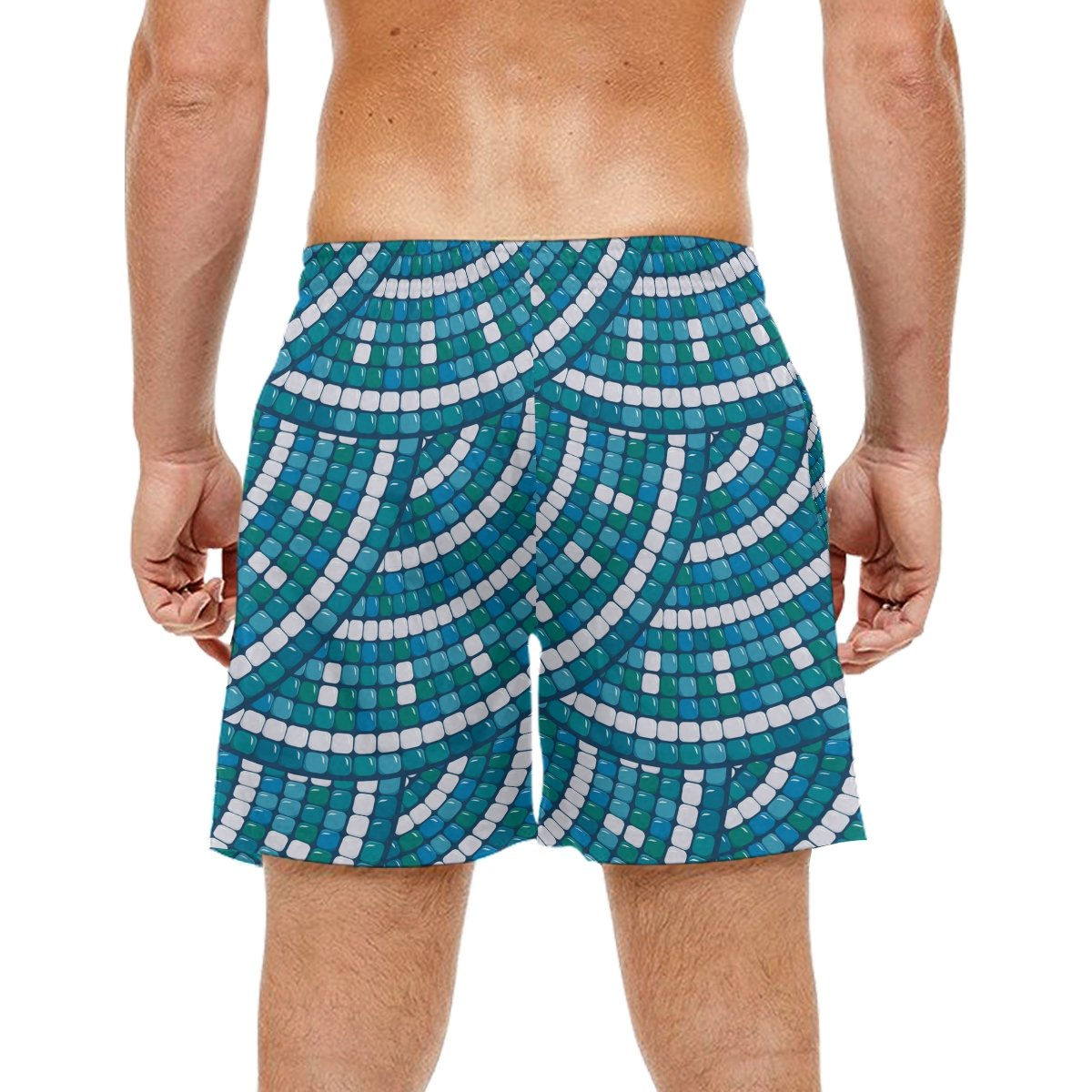 Perry Ellis Mens Short Sleeve Horizontal Multi-Color Stripe Button-Up Shirt