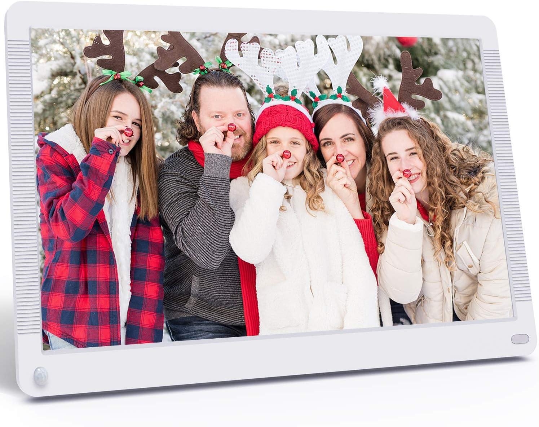 Atatat Digital Photo Frame 17.3 Inch Motion Sensor 1920x1080 High Resolution, Digital Picture Frame Support 1080P Video/Music/Slide Show/Continue Playback/Adjustable Brightness/Auto Rotate/Calendar