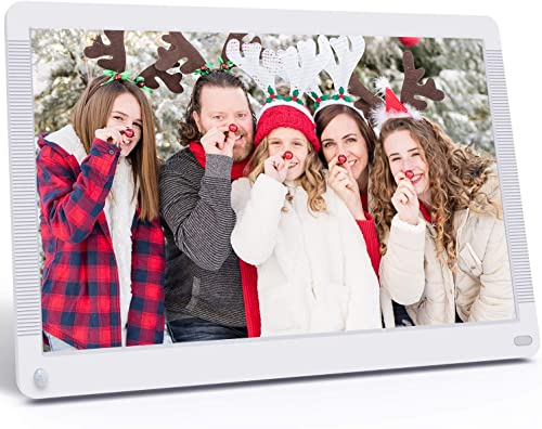 Atatat Digital Photo Frame 17.3 Inch IPS Screen Motion Sensor 1920×1080 High Resolution, Digital Picture Frame Support 1080P Video Music Slide Show Continue Playback Adjustable Brightness Auto Rotate