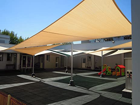 280gsm heavy duty rectangle shade sail uv top outdoor canopy for