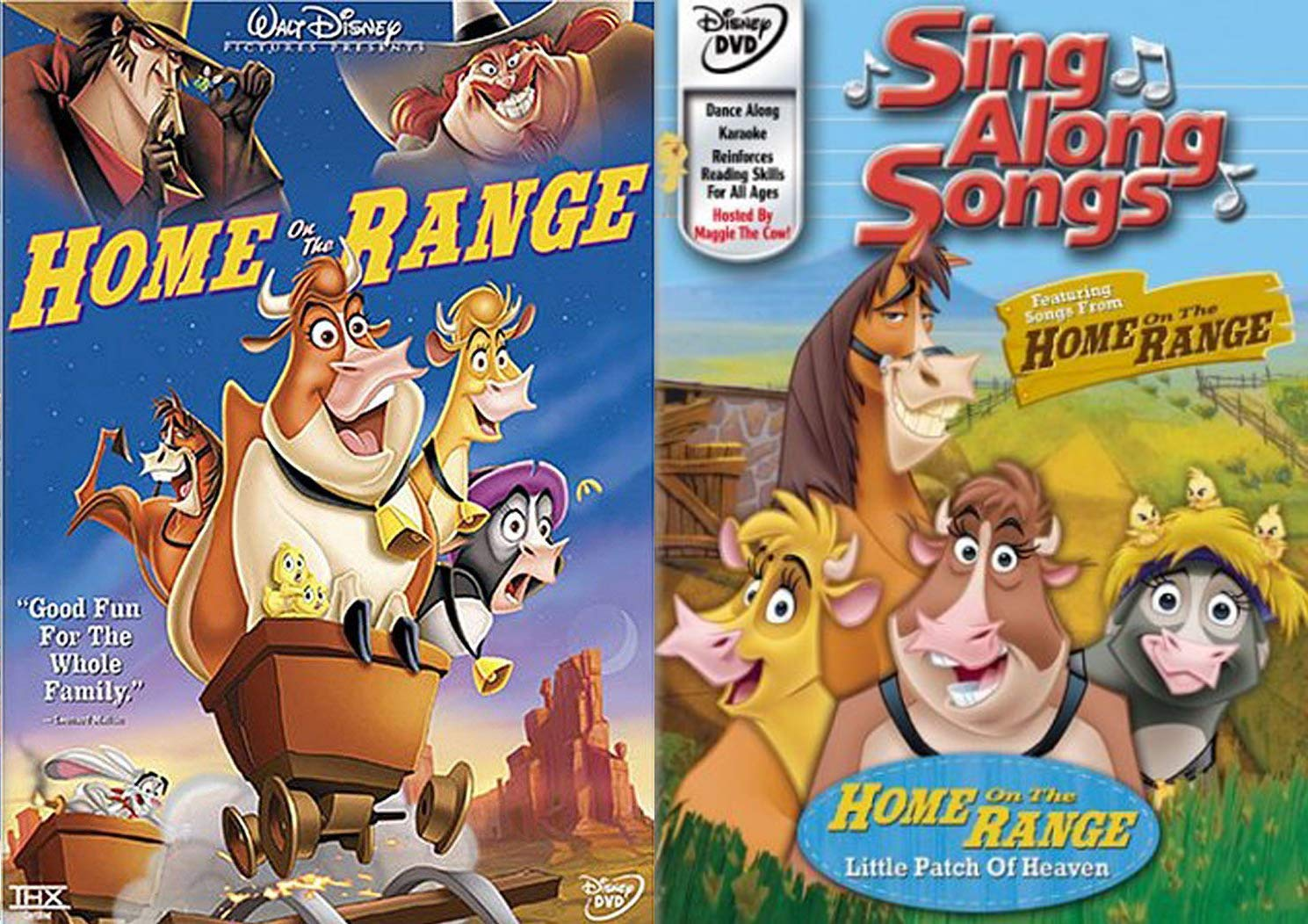 Maggie the Cow Sing A long Animals! Disney's Home On The Range Double Feature DVD Rip-Roaring Wild West Music Songs fun Pack