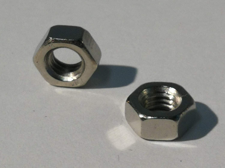 DIN 934 Galv Dadi esagonali da 25 pezzi Acciaio Nichelato, M5 acciaio nichelato