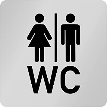 Kinekt3d Leitsysteme Placa para puerta baño wc & # x2022 ...