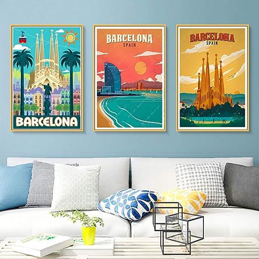 liwendi Europa España Barcelona Arte Pop Viaje Lienzo Pintura ...