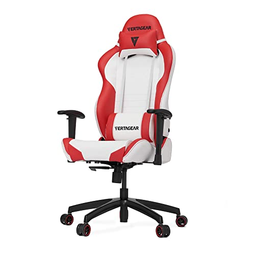 Vertagear S-Line SL2000 Racing Series Gaming Chair - White Red Rev. 2