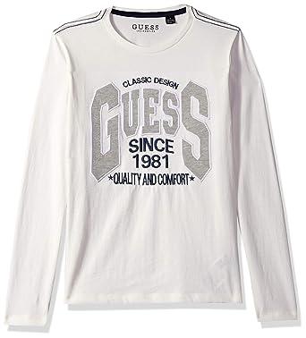 409bd4888 Amazon.com  GUESS Boys Long Sleeve Classic Designs Logo T-Shirt ...