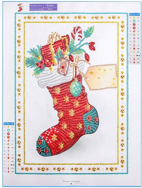WOBANG DIY 5D Diamant Painting Set - Tema Navidad Papá Noel árbol ...